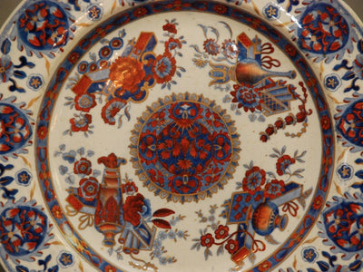 Pair of Anglo-Indian Spode Imari Plates - 2nd West India Regiment c. 1825-33 - Helen Storey Antiques