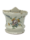 18th Century French Faience Wall Bouquetière Vase - Montpellier - Helen Storey Antiques