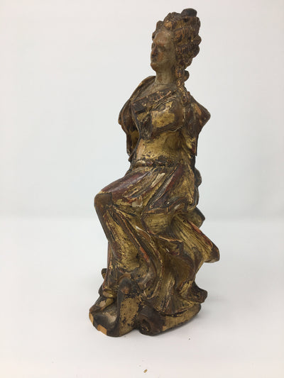 Carved Figure 18th Century, Possibly Marie Antoinette - Helen Storey Antiques