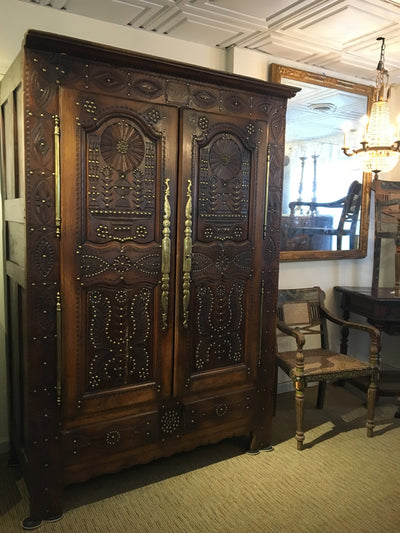 Outstanding French Armoire - Brittany 1864 - Provincial - Helen Storey Antiques
