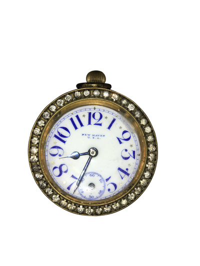Charming 19th Century Glass Ball Clock, New Haven - Helen Storey Antiques