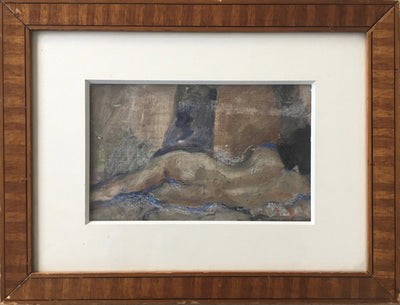 Reclining Nude, Herand GULBENKIAN (1880-1968) Oil on Board - Helen Storey Antiques