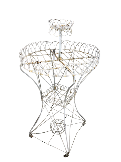 19th Century - Early 20th Century French Wire Plant Stand - Helen Storey Antiques