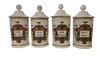 Set of Four Fabulous French Apothecary Jars, 19th Century - Helen Storey Antiques