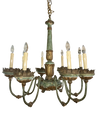 Italian Chandelier - Polychrome Turned wood and Tole, 18th Century - Helen Storey Antiques