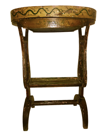 French Painted Side Table, 19th Century,  Tricoteuse Table - Helen Storey Antiques