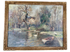 French Impressionist Oil on Canvas: Gaston Durel c. 1920 - Helen Storey Antiques