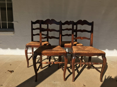 Set of Four Nineteenth Century French Provincial Side Chairs - Helen Storey Antiques