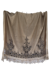 19th Century Fine French Linen and Lace Curtain - Helen Storey Antiques