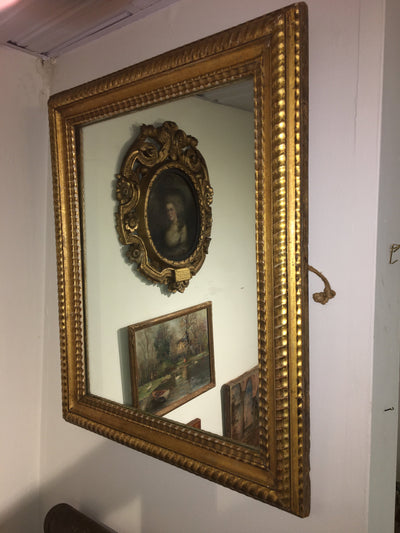 Early 19th Century Gilt Carved French Mirror - Helen Storey Antiques