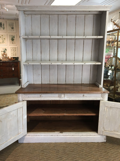 Swedish Gustavian Painted Step-back Cupboard - Helen Storey Antiques