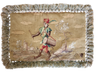 18th Century Tapestry Pillow Case - Monkey - Helen Storey Antiques