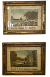 Rare Pair of Louix VIII Needleworks - Les Tuilleries and Versailles, c. 1820 - Helen Storey Antiques
