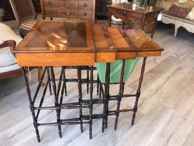 Fine Regency Set of Nesting Tables - Specimen Tables by Gillows of Lancaster & London - Helen Storey Antiques