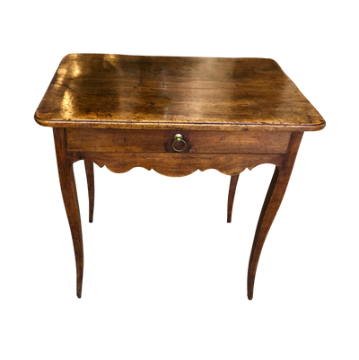 French Provincial Walnut Side Table - Table d'appoint - Helen Storey Antiques
