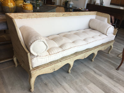Swedish 18th Century Settee Bench - Helen Storey Antiques