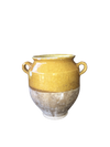 Small French Provincial Yellow Confit Pot - Helen Storey Antiques