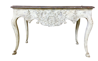 18th Century Carved Polychrome Console Table - Provincial - Helen Storey Antiques