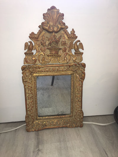 Carved and Gilded Regence Mirror, 1720, French - Helen Storey Antiques