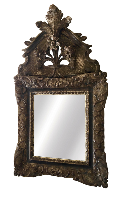 Louix XIV - Regence French Mirror, c. 1710 Carved and gilded - Helen Storey Antiques