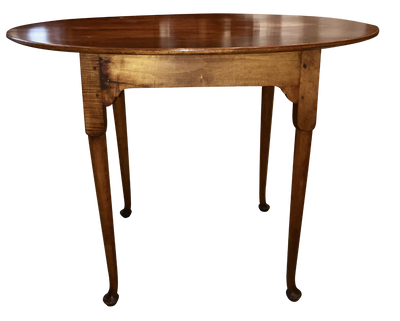 Fine Queen Anne New England Oval Top Tea Table 1750-1760 - Helen Storey Antiques