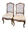 Delightful Pair Louis XV Side Chairs - Helen Storey Antiques