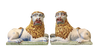 Rare Pair of 19th Century Faience Luneville Lions - Helen Storey Antiques