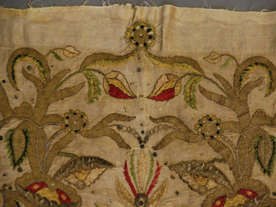 Rare Turkish / Mughal Embroidery 18th Century - Helen Storey Antiques