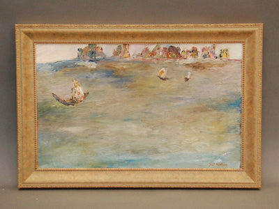 Sol Wilson Seascape Oil on Canvas - Helen Storey Antiques