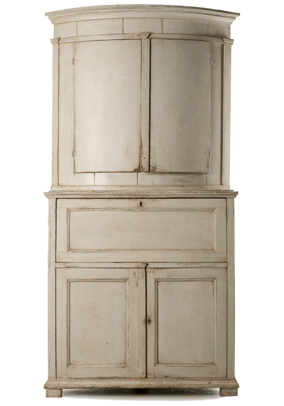 Late 18th Century Swedish Corner Cupboard with Desk - Helen Storey Antiques