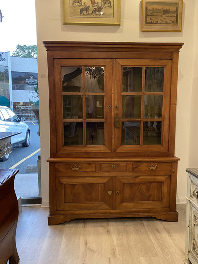 Cabinet - French Louis Philippe Fruitwood Cabinet Bookcase