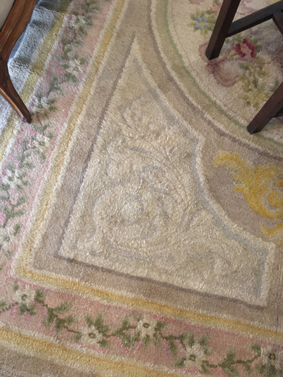 Antique Savonnerie Carpet, France, Late 19th Century - Helen Storey Antiques