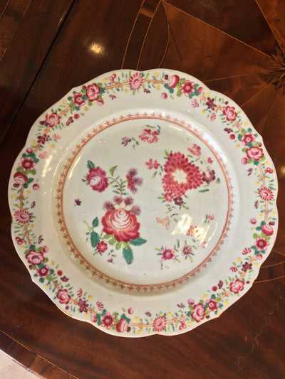 Set of Ten Famille Rose Chinese Export Plates, c. 1760 - Helen Storey Antiques