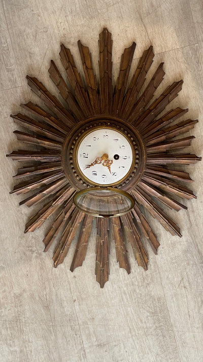 Clock - LATE 19TH-EARLY 20TH CENTURY FRENCH SUNBURST CLOCK