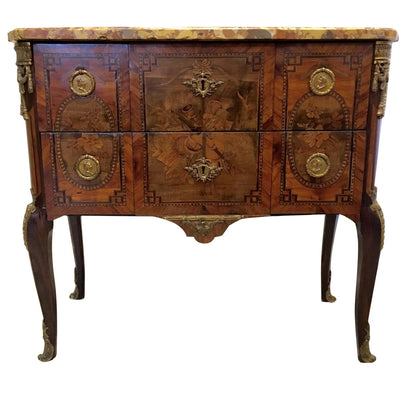 ON HOLD - Louis XVI two-drawer commode signed Francois Rubestuck, c. 1765 - Helen Storey Antiques