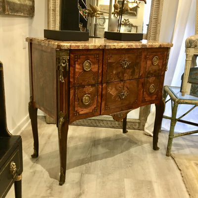 Louis XVI two-drawer commode signed Francois Rubestuck, c. 1765 - Helen Storey Antiques