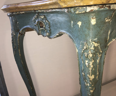 Venetian Polychrome Console Table with Original Marble Top, 18th Century - Helen Storey Antiques