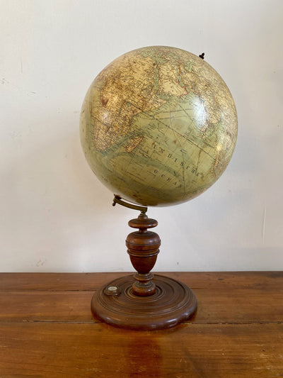 Decorative Object - Heymann Terrestrial Globe With Compass, Berlin C. 1885