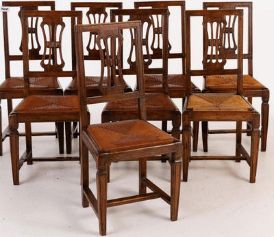 Set of Eight 18th Century Italian Side Chairs - Helen Storey Antiques