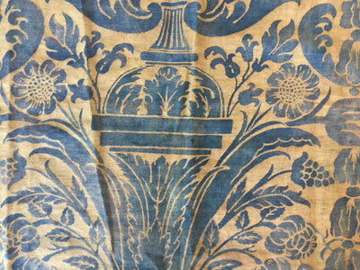 Length of Beautiful Blue Vintage Fortuny Fabric - Helen Storey Antiques