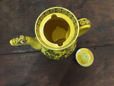 Rare Canary Yellow Creil Coffee Pot, 1815-1820 - Helen Storey Antiques