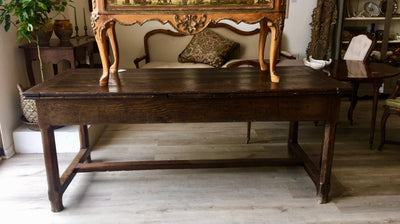 Stunning French Provencial Draw-Leaf Table - Long, with Extending Leaves - Helen Storey Antiques