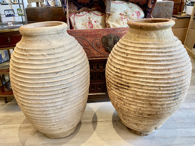 Greek Jar - Large Peloponnesian Olive Oil Jars, Early 19th Century Garden