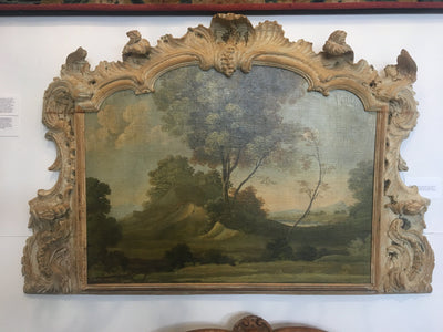 Early Landscape in Carved Boiserie Frame - Helen Storey Antiques