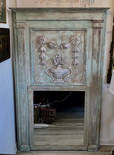 Mirror - Large Early 19th Century Trumeau Mirror