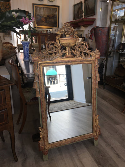 Louis XVI style carved and gilded French Provincial Mirror, 19th C. - Helen Storey Antiques