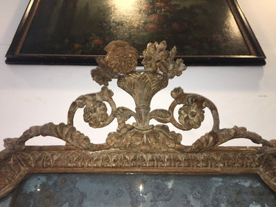 Stunning George II Mirror or overmantel mirror c. 1750 - Helen Storey Antiques