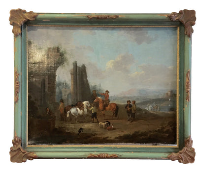 Jacob Tischbein, (1725-1791), Pair of Oil on Canvas Landscapes - Helen Storey Antiques