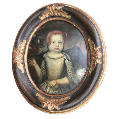 17th Century Portrait of a Young Girl - Oil on Copper - Helen Storey Antiques