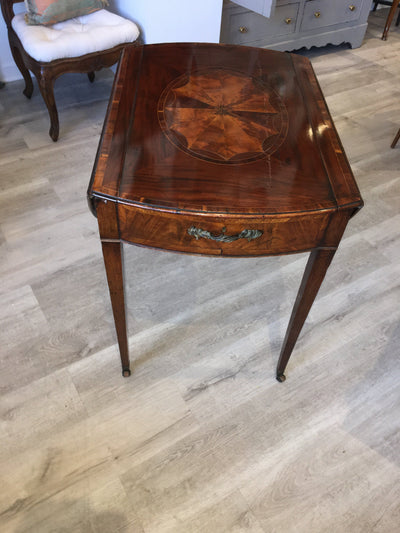 Rare Inlaid Georgian Mahogany Pembroke Games Table, c. 1790 - Helen Storey Antiques